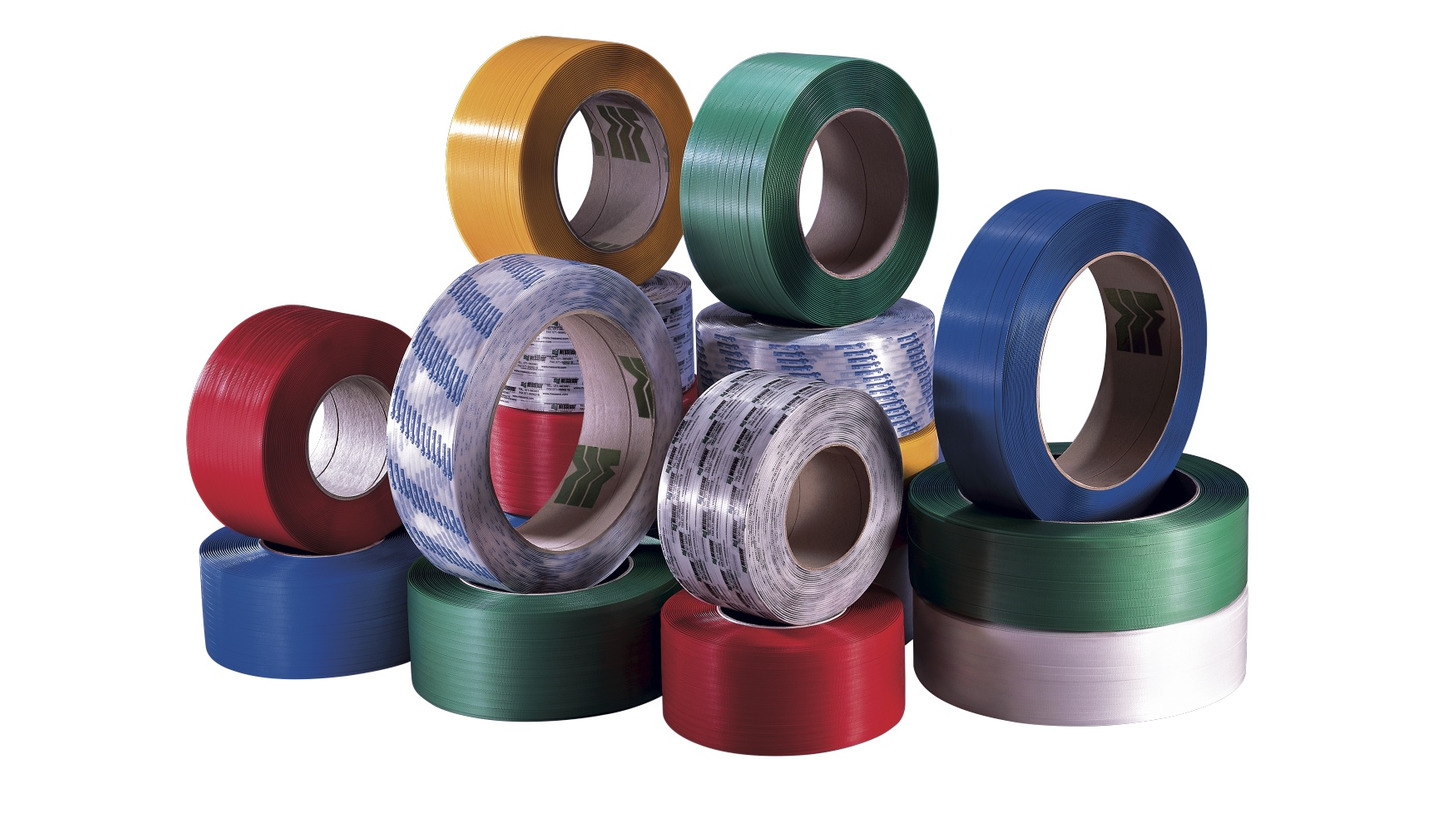 Logo Polypropylene (PP) and Polyester (PET) strapping band
