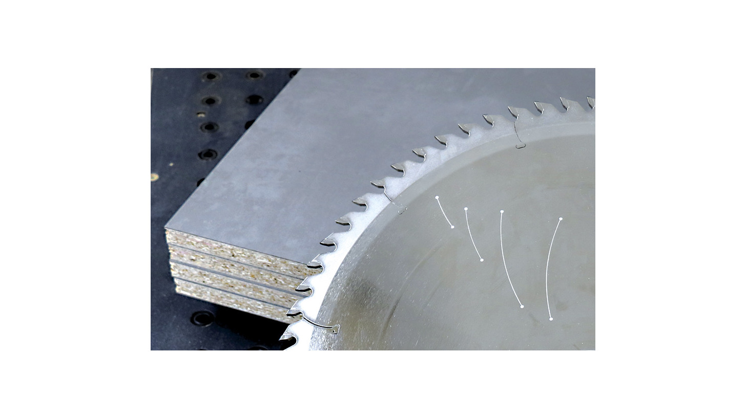 Logo New: DP-tipped panel sizing saw blades