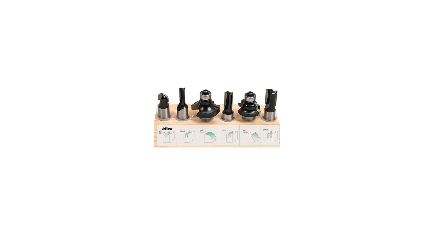 "Logo 1/2"" Router Starter Kit 6pce"