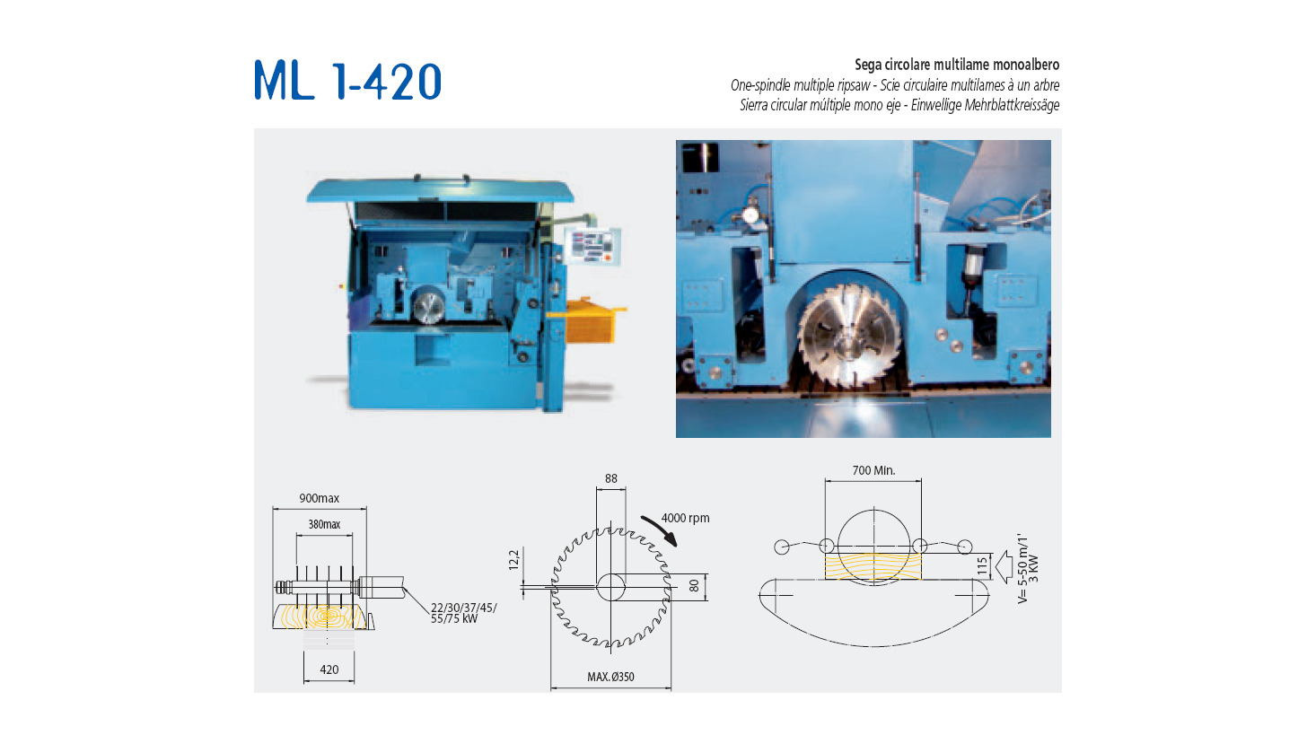 Logo One-spindle multiple ripsaw