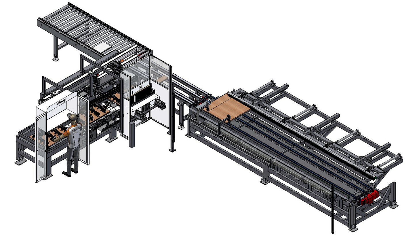 Logo Pressing machine for furniture fronts