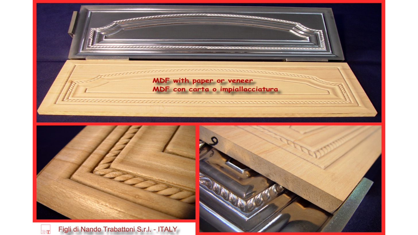 Logo MDF panel board embossing with/without PAPER or VENEER