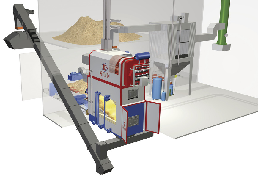 Logo Biomass heating plants for industry