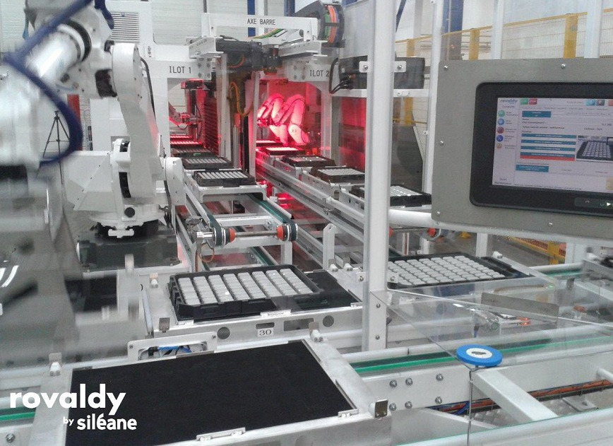 Logo ROVALDY Robots line for electroplating