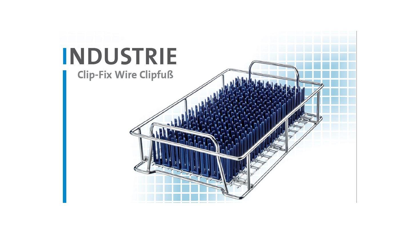 Logo Werkstückträger Clip-Fix Wire Clipfuß