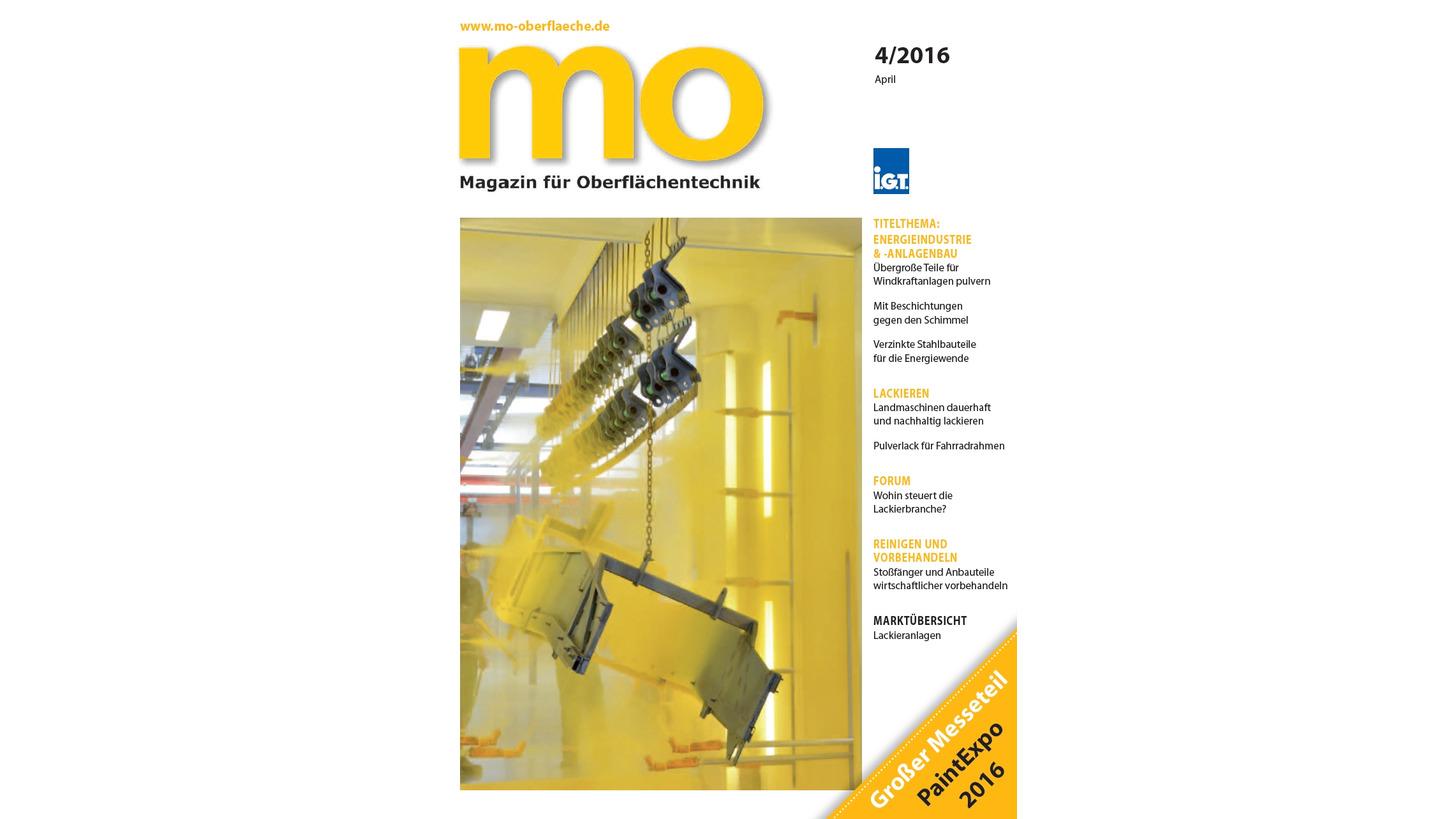 Logo mo Magazin für Oberflächentechnik