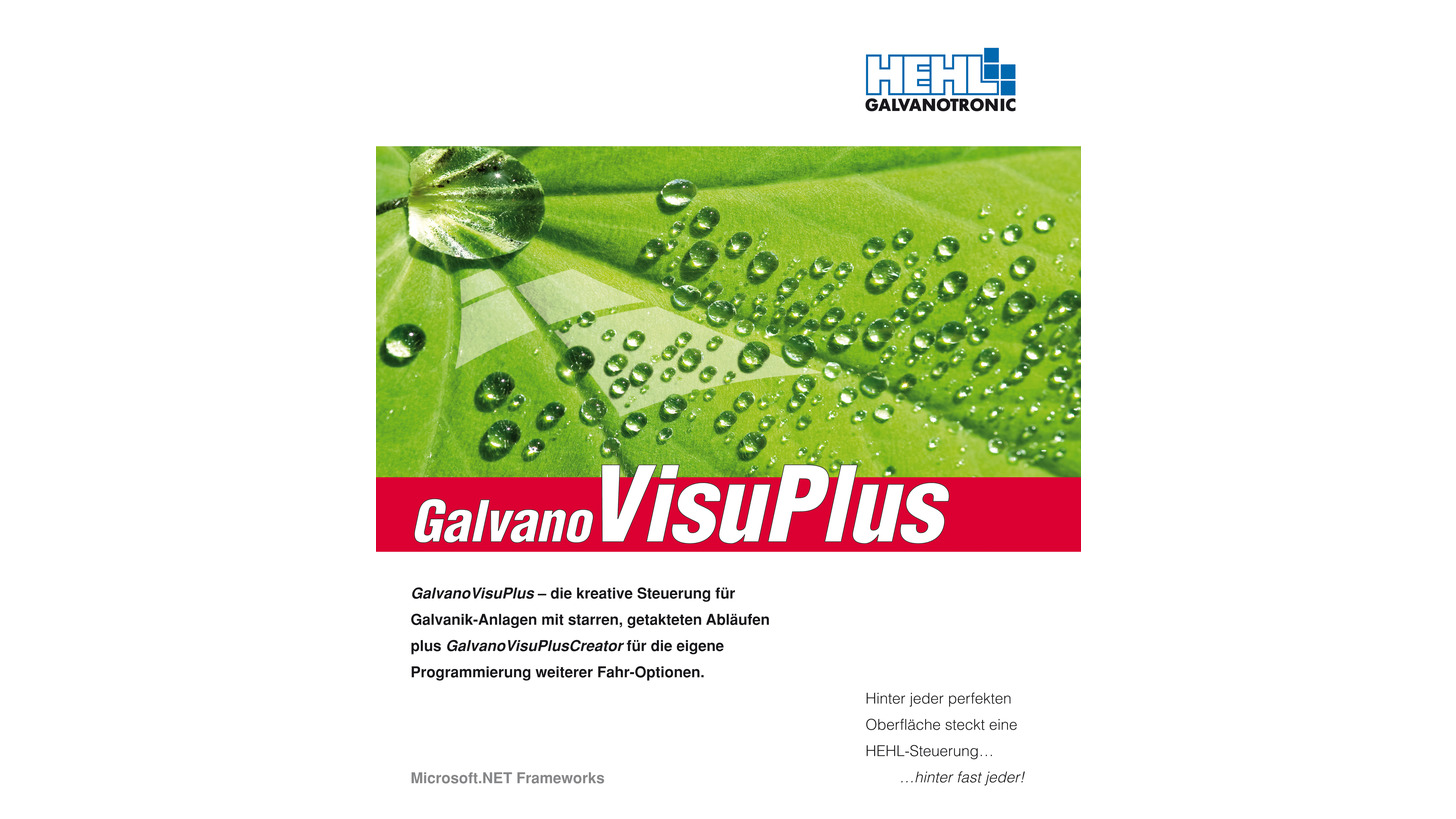 Logo GalvanoVisuPlus / HEHL GALVANOTRONIC